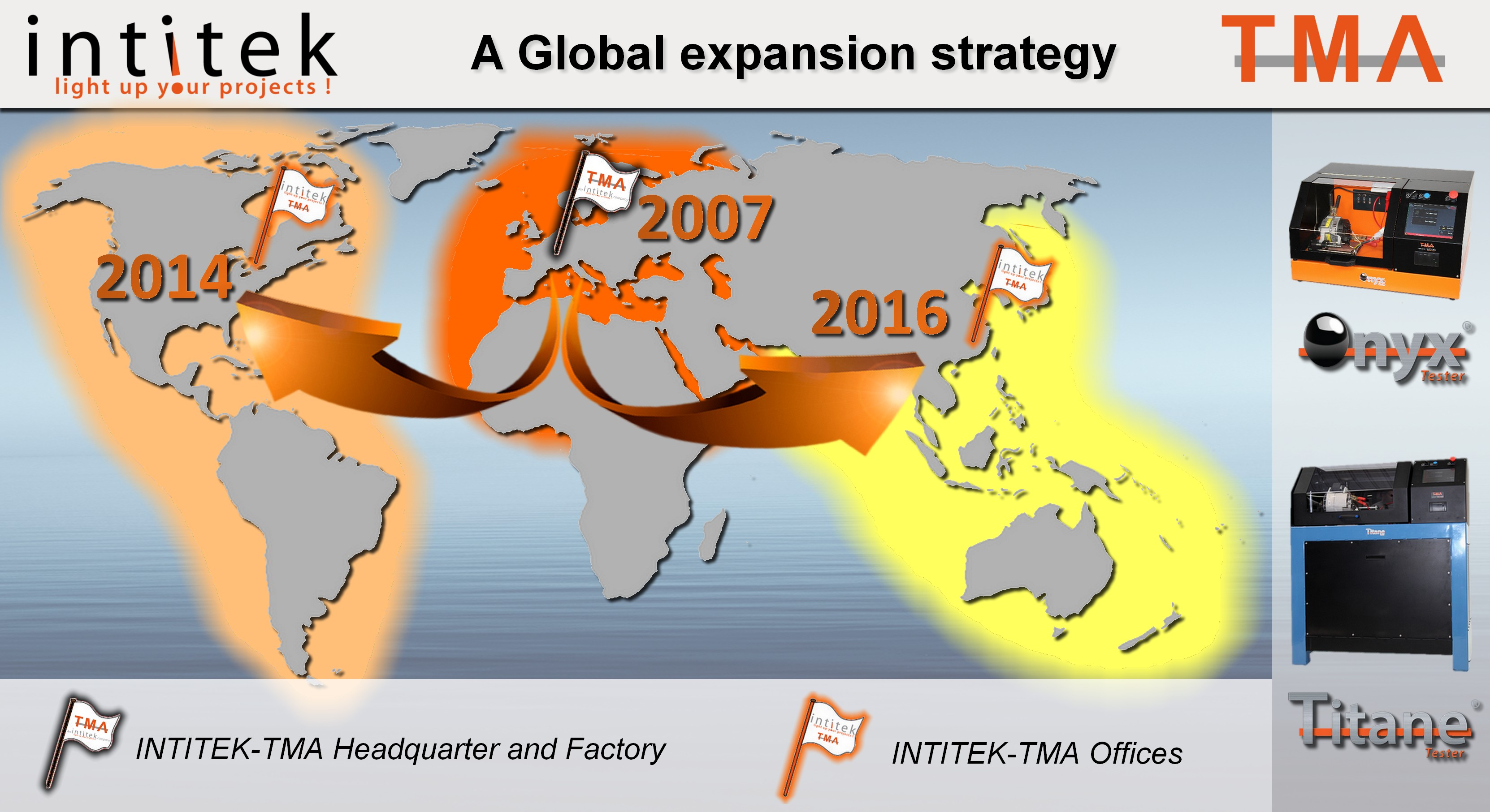 Carte expansion internationale TMA